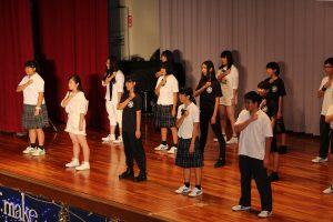 文化祭実行委員と文化部による群舞